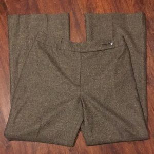 Ann Taylor Brown Wool Lined Trousers. Size 8